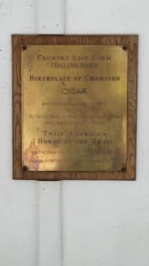 And here is the plaque at Country Life Farm - this picture was taken in April.