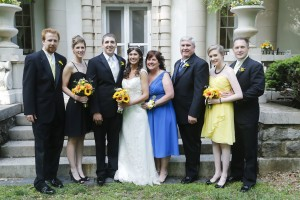 Family shot - I'm wearing black and Kristin, my future sister-in-law (and the rest of the bridesmaids), wore yellow.