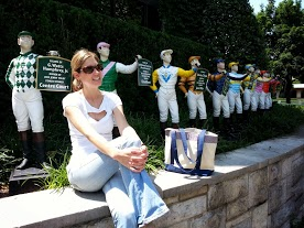 Requisite picture with the jockeys at Keeneland.