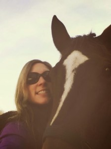 Me with my friend's horse, Lady Love. She just moved to the farm where Bailey currently resides.
